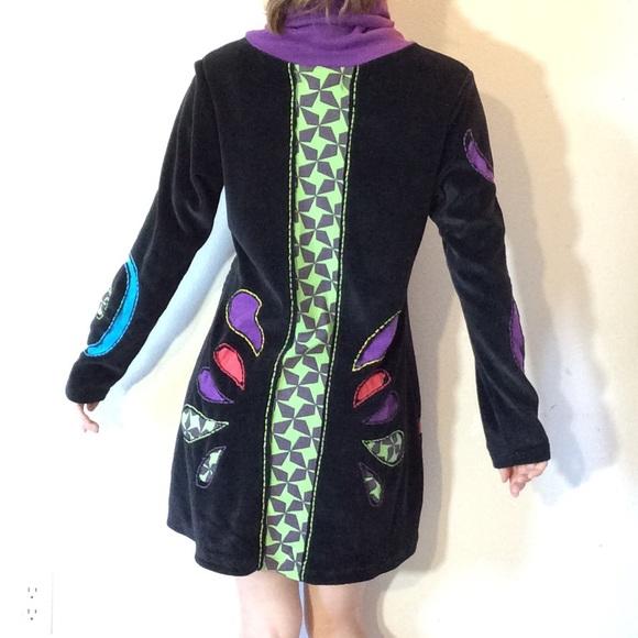 Vintage Dresses & Skirts - The Collection Royal Reptilian Black Velvet Dress